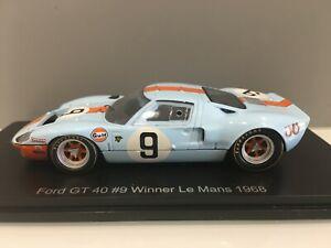COCHE 24H DE LEMANS SPARK FORD GT 40#9 WINNER 1968. ESCALA 1/43