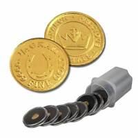 10 - 1/4 Gram .9999 Fine Gold Rounds in a Capsule- Horseshoe Design- BU- Monarch