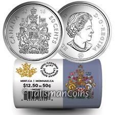 Canada 2016 Half Dollar 25x Coat of Arms 50 Cents BU Special Mint Wrap Full Roll