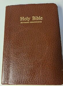 VTG Holy Bible Dictionary Concordance Thomas Nelson 1977 Red Letter Edition KJV