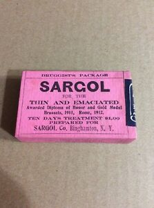 PRE 1910 ANTIQUE APOTHECARY MEDICINE ADVERTISING #32- Sargol