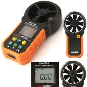 LCD Digital Anemometer Wind Speed Meter Air Volume hand-held HYELEC MS6252A