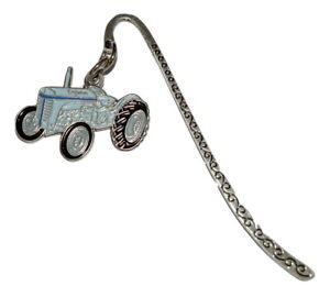 T20 Vintage Grey Tractor Bookmark Detailed Enamel Farm Gift Reading Mens Boys