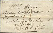 Marque Postale FRANCE Lettre Landes 39 ST SEVER 31x12 LAC 1821 (date améliorée)