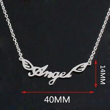 NEW Flying Angel Silver 316L Stainless Steel Titanium Pendant Necklace AW31