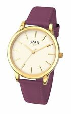 Limit Ladies Classic Dial Watch Berry Strap 6235
