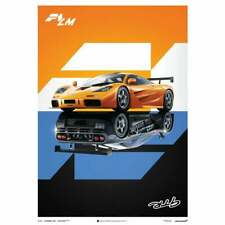 Unique & Limited Poster McLaren F1 GTR & LM Street/Track Cars Split 50 x 70 cm