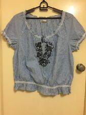 Urbane Woman Plus Size Gypsy Boho Hippy Embroidered Top Sz20