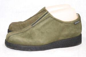 MEPHISTO Wo's 6.5B Olive Green Nubuck Split Toe Slip On Chukka Chelsea Bootie