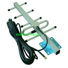GSM 800/850/900MHz Outside Yagi Antenna w/ 10m Cable F Female Repeater Booster