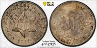 1851 O PCGS MS64 CAC 3CS Three Cent Silver