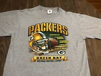 Vintage Green Bay Packers NFL Football Large Gray T Shirt