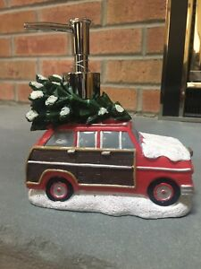 NWT Croscill Christmas Tree Car Snow Holiday Winter Soap Dispenser - Decor Gift
