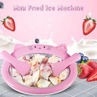 Fried Ice Machine Ice Cream Frozen Yogurt Milk Roll Pan DIY Maker Shovel
