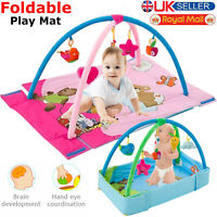 3 in 1 Baby Gym Activity Foam Play Floor Mat Ball Pit & Toys Babies Playmat UK