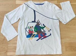 Mini Boden 4-5 years boy girl kids long-sleeved top t-shirt Christmas reindeer