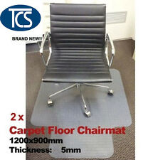 2 x New Carpet Floor Office Chair Mat hard Vinyl protector 5mm including spike