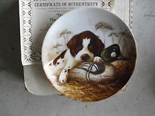 Vintage 1987 Knowles Collector Plate Dog Tired The Springer Spaniel MIB