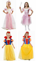 NEW GIRLS PRINCESS SNOW WHITE SLEEPING BEAUTY DRESSING UP COSTUME AGE 3-12 YEARS