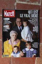 Paris Match 2238 Bérégovoy Disney Sardou A. Mussolini Springsteen Huster Serbes
