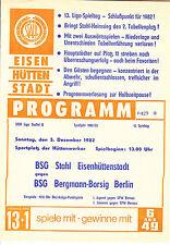 DDR-Liga 82/83  BSG Stahl Eisenhüttenstadt - BSG Bergmann-Borsig Berlin, 5.12.82