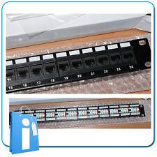 "Patch Panel Rack 19"" 24 puertos Categoria 5E cat"
