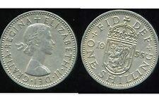ROYAUME UNI  one shilling 1955 ( rev SCOTTISH  )