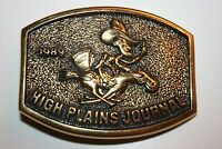 Vintage 1989 High Plains Journal Brass Belt Buckle Dodge City Kansas Limited