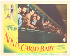 MONTE CARLO BABY LOBBY CARD 11X14 Size Movie Poster Card #2 AUDREY HEPBURN