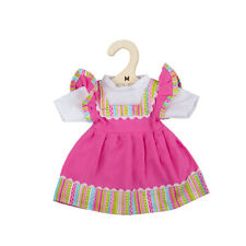Bigjigs Toys Pink Dress with Striped Trim for Small Rag Doll (30cm) Plush Toy