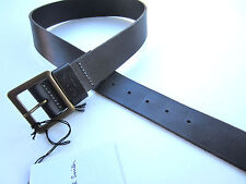 """Paul Smith Mens Wide Leather Jeans Belt 28"""" Black Leather"""