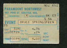 Original and Rare Bruce Springsteen 1975 Concert Ticket Stub Seattle Born To Run