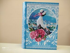 Tin book with tea, amazing summer seaview, perfect gift