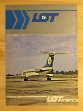 Vintage LOT Polish Airlines Advertisement - Tupolev 134