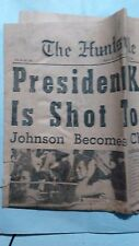 Huntsville, AL paper 11/22/63 Kennedy dead