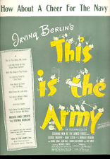 "THIS IS THE ARMY Sheet Music ""How About A Cheer For The Navy"" Ronald Reagan"