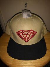 Diamond Supply Co Brilliant Snapback Hat Cap Skate Tan Brown Beige a557478213a1