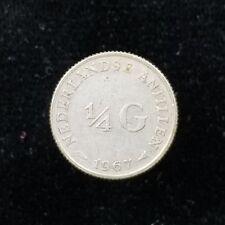 Netherlands Antilles Silver 1/4 Gulden 1967