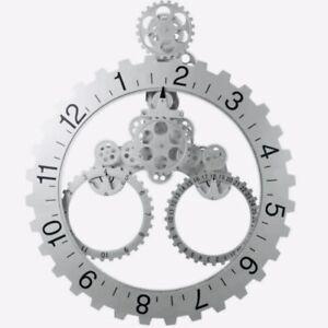 Modern 3D Rotary Gear Mechanical Wall Clock Calendar Wheel Ships From USA