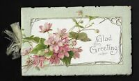 Embossed Die Cut Victorian Booklet - Glad Greeting, Pink Apple Blossoms