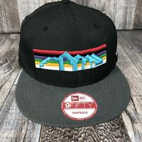 Denver Nuggets New Era 9FIFTY NBA Snapback Cap Hat Rainbow Series Hardwood OSFM