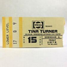 1985 TINA TURNER Concert Ticket Stub BJCC Birmingham Alabama Pepsi-Cola Presents