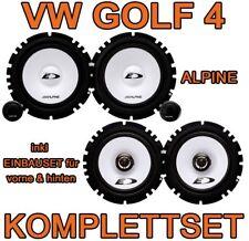 VW Golf 4 IV   ALPINE KOMPLETTSET LAUTSPRECHER BOXEN VORNE+HINTEN FRONT+HECK NEU