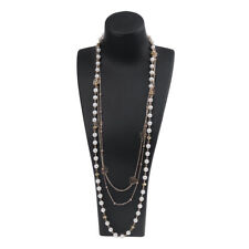 Fashion Women MultiLayer Long Pearl Necklace Pendant Sweater Chain Body Jewelry
