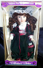 New Large Bisque Victorian Collector'S Choice Gift Doll Gothic Velvet History