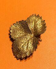 Eggert Denmark Sterling Silver Leaf Brooch