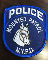 NYPD Police Department Patch New York City NY Mounted Patrol
