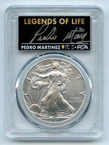 2021 $1 Silver Eagle T1 Last Day Production PCGS MS70 Legends Life Pedro Martine
