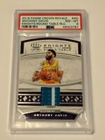 2019 Panini Crown Royale Knights Round Table Anthony Davis Relic