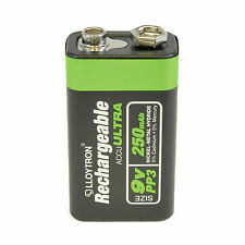 Lloytron 9V Rechargeable Battery 250 mAh 6LR61  PP3 NiMH